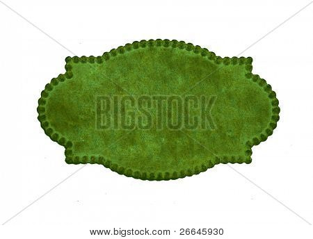 Green vintage calling card