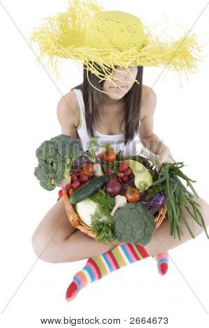Teenager With Vegetable
