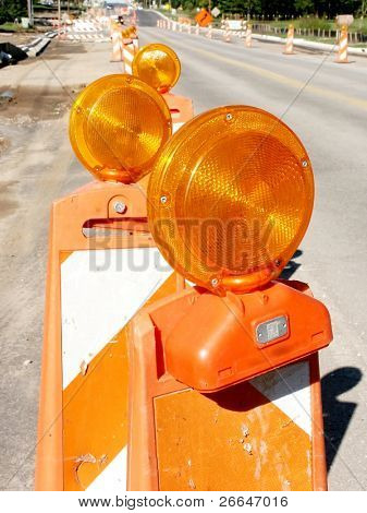 Flash road cones