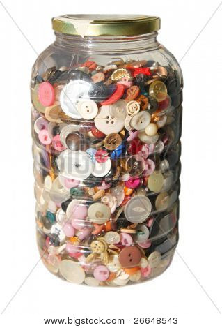 Jar with buttons