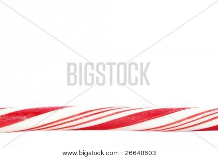 Candy cane closeup with space for text