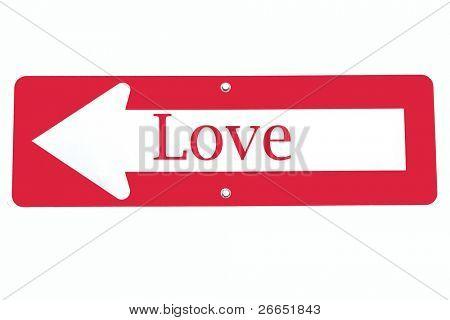 Signo de amor a la izquierda