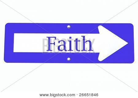 Signo de la fe a derecha