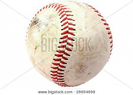 Closeup de béisbol sucio