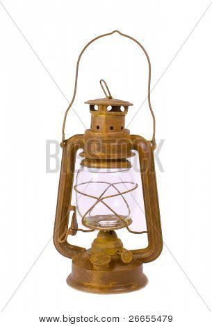 Vintage lamp isolated on white