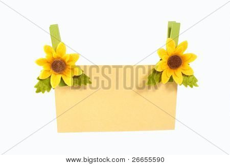 Notecard with sunflowers