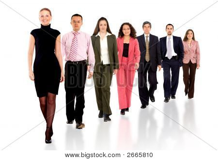 Business Team Walking Forward