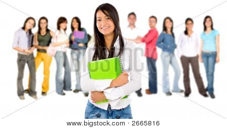 Estudiante universitario sonriente