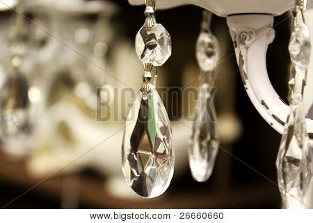 Detalles de la lámpara de cristal Vintage