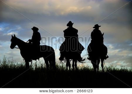 Cowboy Silhouettes (See Others In My Portfolio/Lightbox)