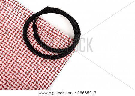 Saudi arabian scarf fabric, seamless tile, arabic background, copy-space