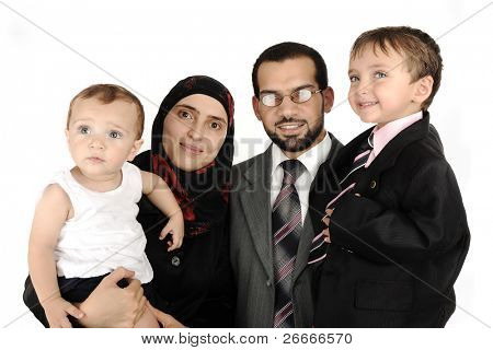 happy family muslim