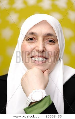 Muslim Arabic woman portrait