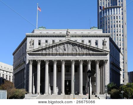 The New York Supreme Court located at 60 Centre Street in New York City.
