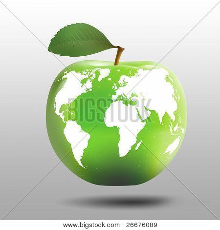 Apple as a planet Earth model