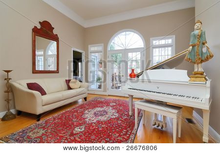Interior of a household living room