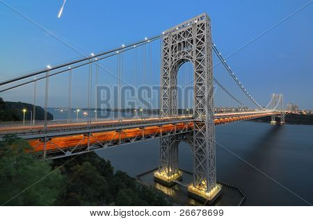 George Washington Bridge from New Jersey to New York City
