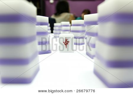 A castle of mahjong