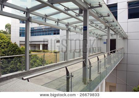 A link bridge between two buildings