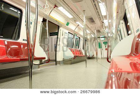 innerhalb des modernen Zug in Singapur