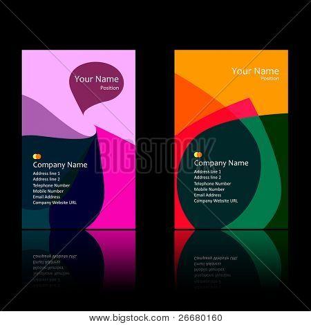 Image: business card set