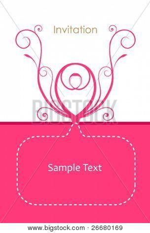 pink color invitation card