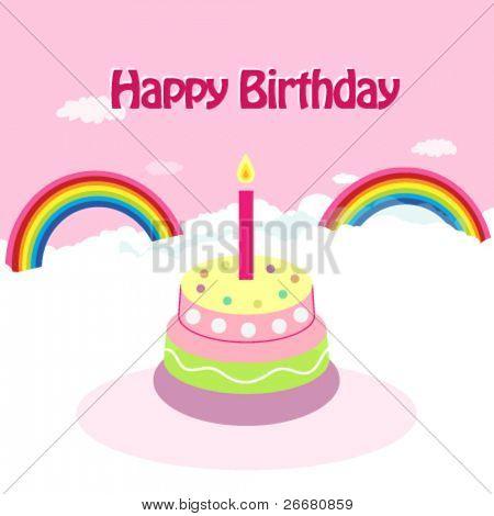 Celebración del cumpleaños - arte Vector Illustration