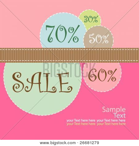 vector cute promotion  poster design for valentine's discount