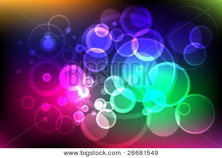 Glittering heavenly lights background