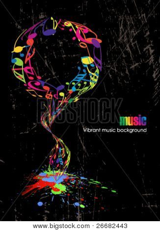 Abstract vintage music poster
