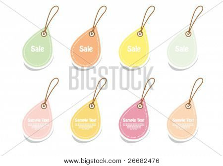 Vector set of vintage cute frames in water drop shape