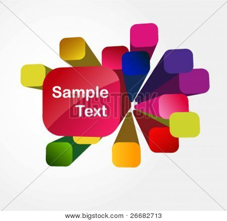 attractive stylish 3D cubes background