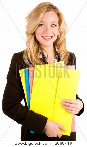Beautiful Smiling Blonde Businesswoman