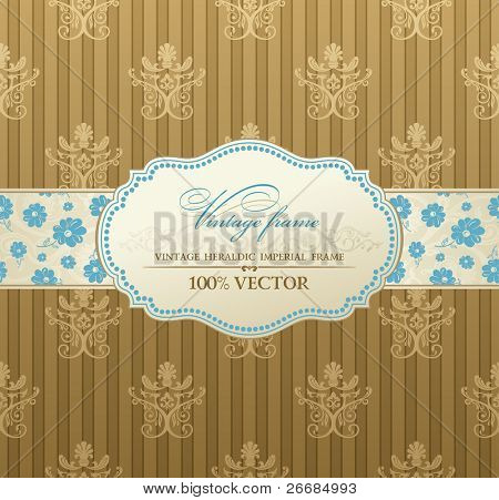 invitation vintage label vector frame pastel
