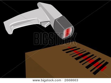Bar Code Scanner Illustration