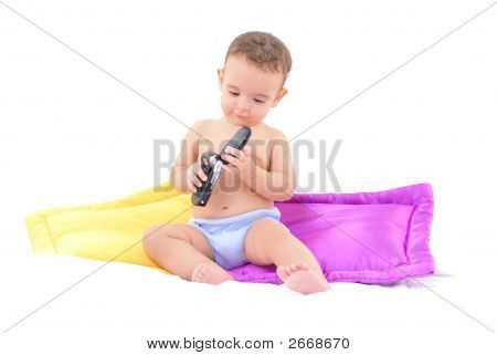 Baby And A Mobile