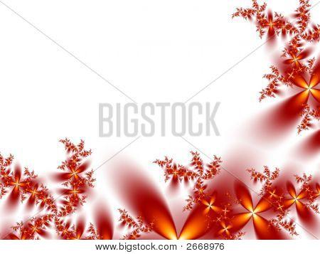 Floral Border On White