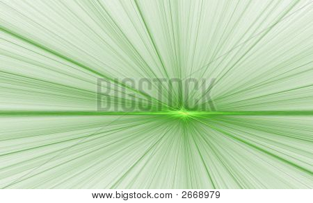 Glowing Point Green On White