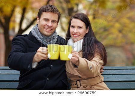 Couple Raising Glasses
