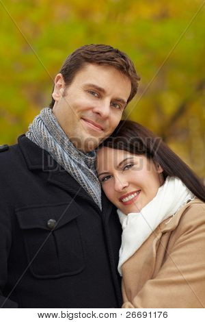 Young Couple In Autumn
