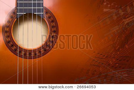 Hintergrund der akustischen Gitarre