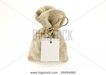 Money bag with tag