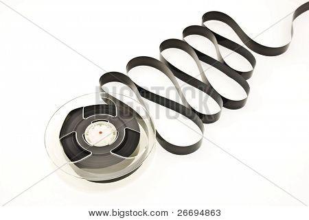 Video tape reel on white