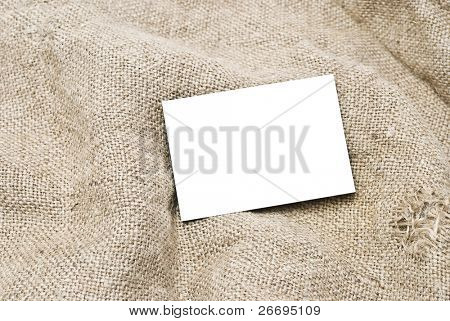 Sackcloth and blank