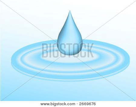 Goteo de agua en el charco
