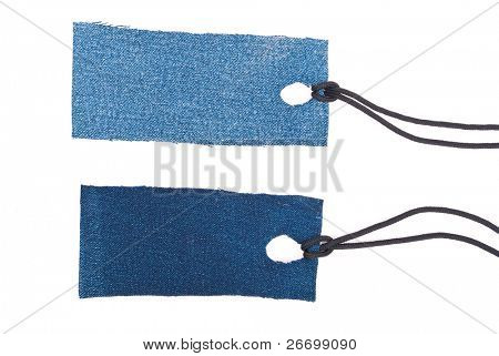 Jeans tags with laces