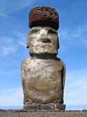 Red-hat moai of Ahu Tongariki, Easter Island
