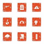 Exchange Of Ecology Icons Set. Grunge Set Of 9 Exchange Of Ecology Icons For Web Isolated On White B poster