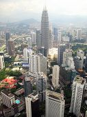 picture of petronas twin towers  - Aerial view of Kuala Lumpur - JPG