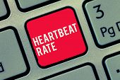 Word Writing Text Heartbeat Rate. Business Concept For Measured By Number Of Times The Heart Contrac poster